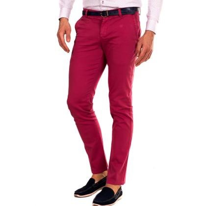 Zen Zen Κόκκινο ανδρικό υφασμάτινο παντελόνι