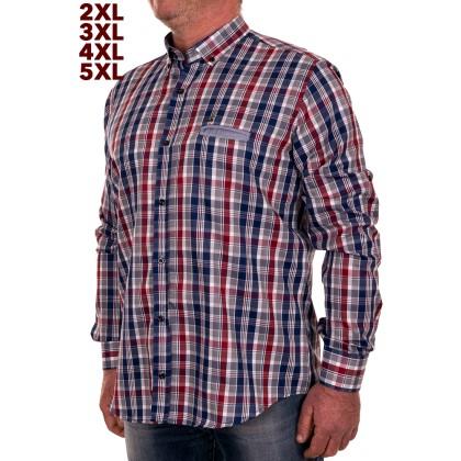 Zen Zen Καρό ανδρικό πουκάμισο με τσέπη